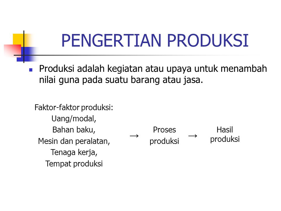 Faktor-faktor produksi: