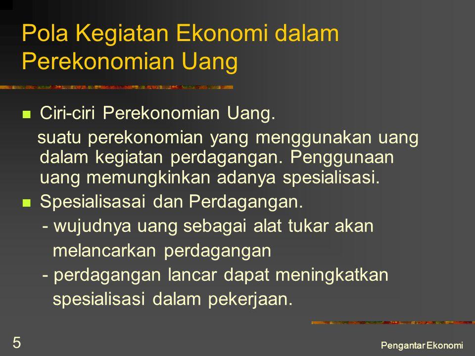 Pola Kegiatan Ekonomi dalam Perekonomian Uang