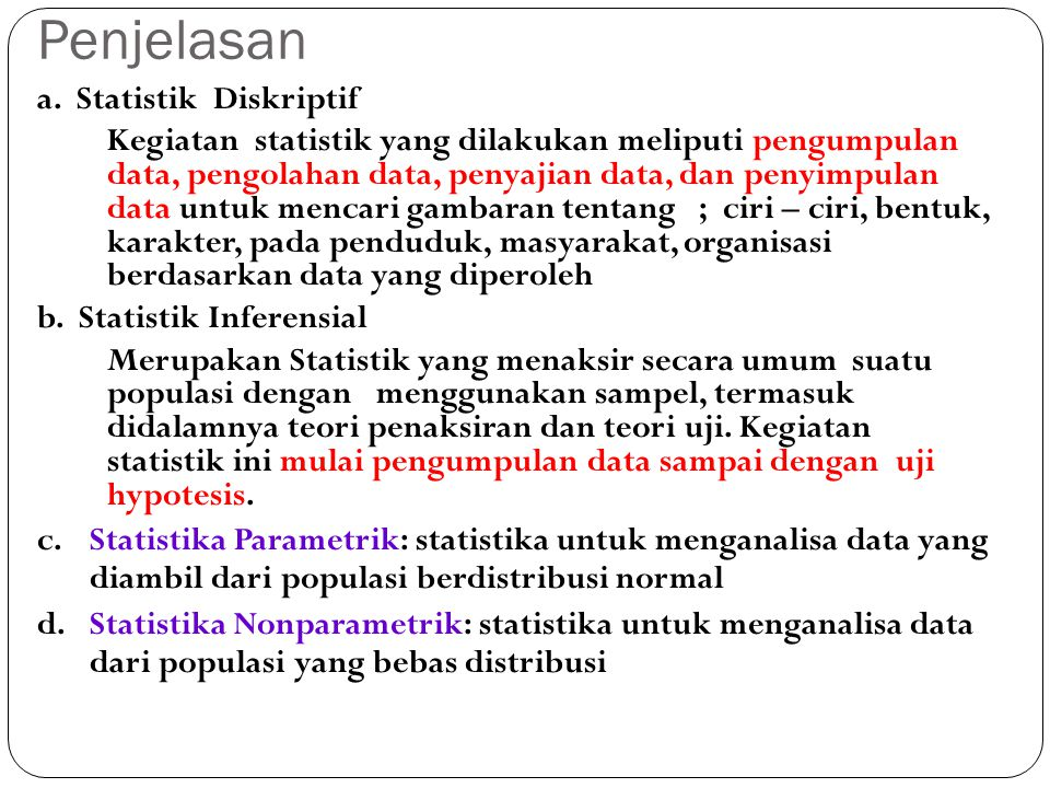 Penjelasan a. Statistik Diskriptif