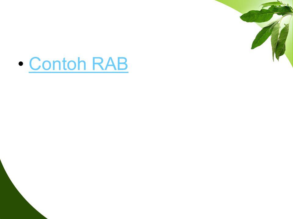 Contoh RAB