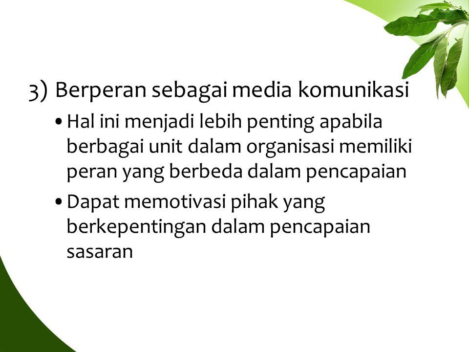Berperan sebagai media komunikasi