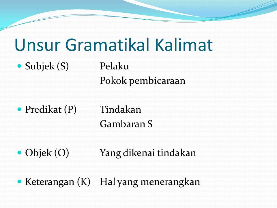 Unsur Gramatikal Kalimat