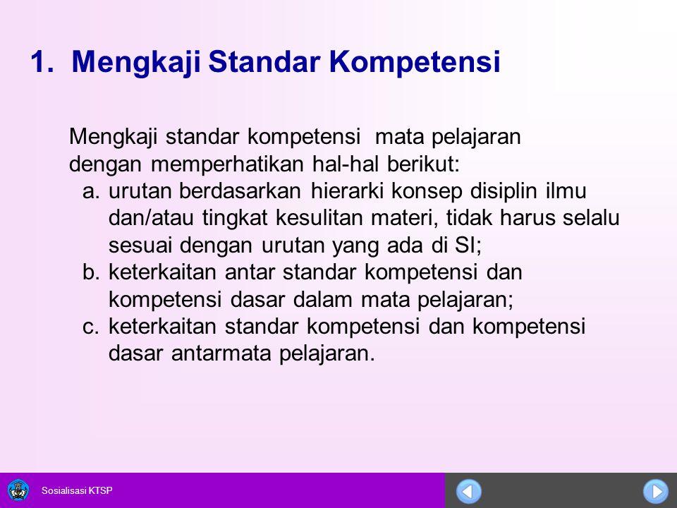 1. Mengkaji Standar Kompetensi