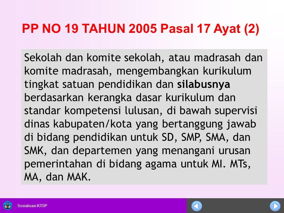 PP NO 19 TAHUN 2005 Pasal 17 Ayat (2)