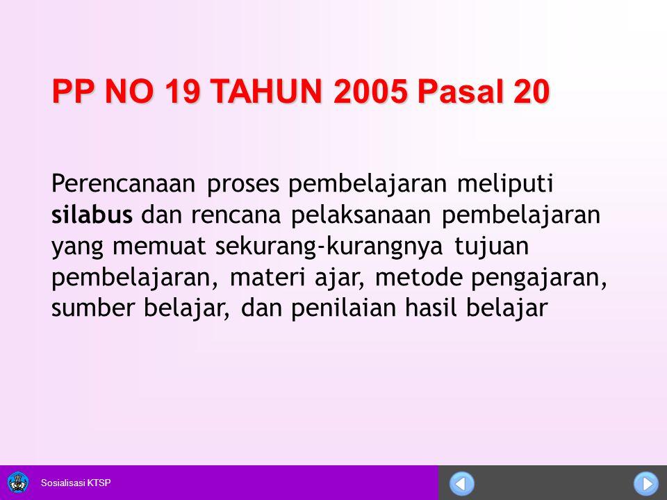 PP NO 19 TAHUN 2005 Pasal 20