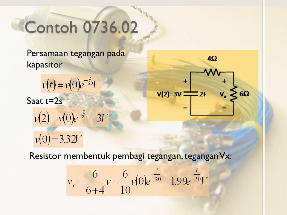 Contoh 0736.02 Persamaan tegangan pada kapasitor Saat t=2s