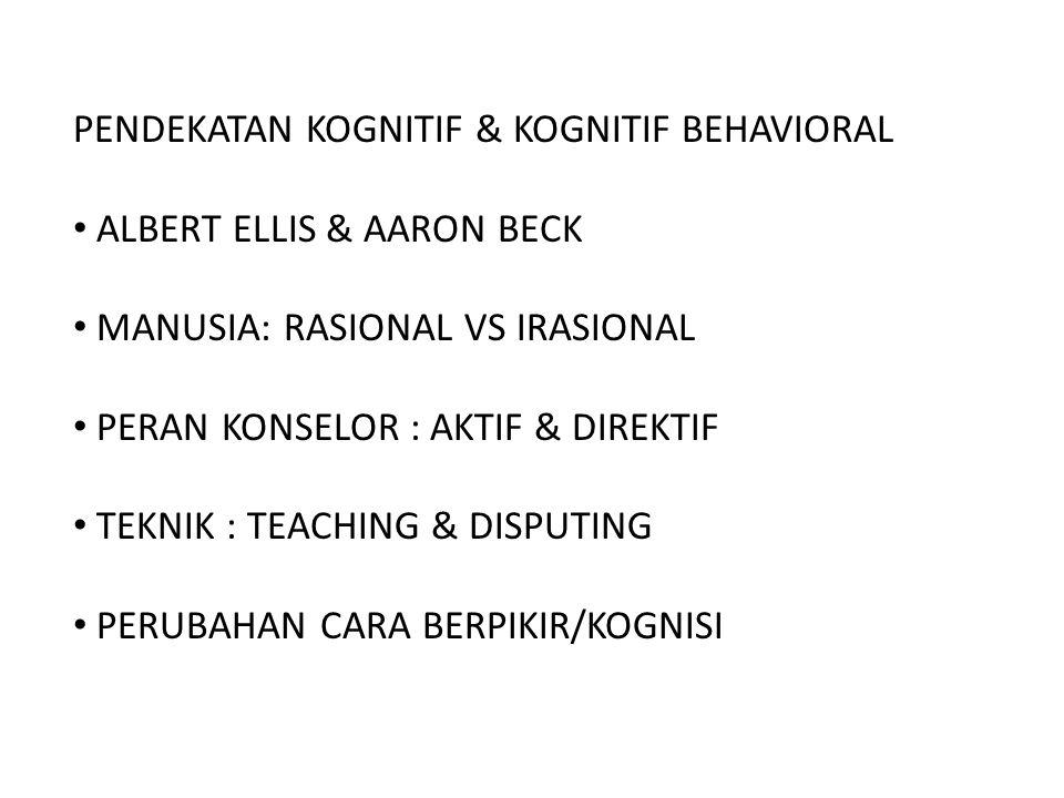 PENDEKATAN KOGNITIF & KOGNITIF BEHAVIORAL