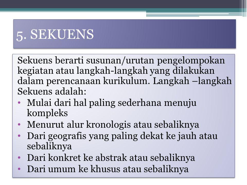 5. SEKUENS