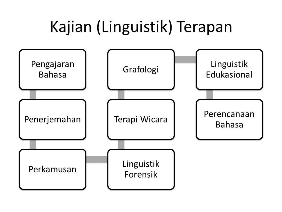 Kajian (Linguistik) Terapan