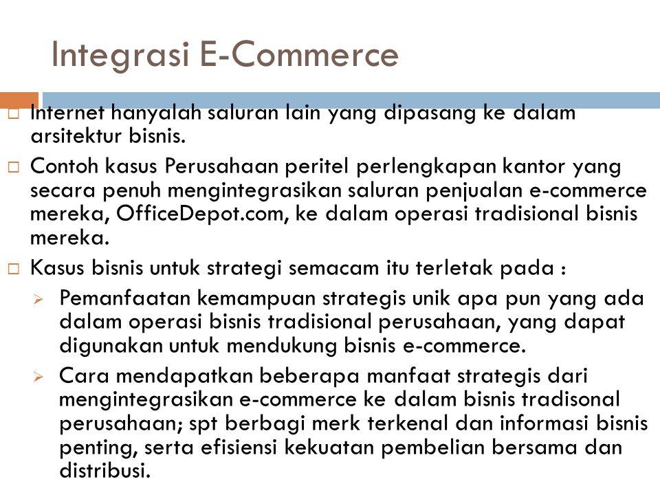 Integrasi E-Commerce Internet hanyalah saluran lain yang dipasang ke dalam arsitektur bisnis.