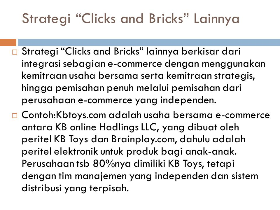 Strategi Clicks and Bricks Lainnya