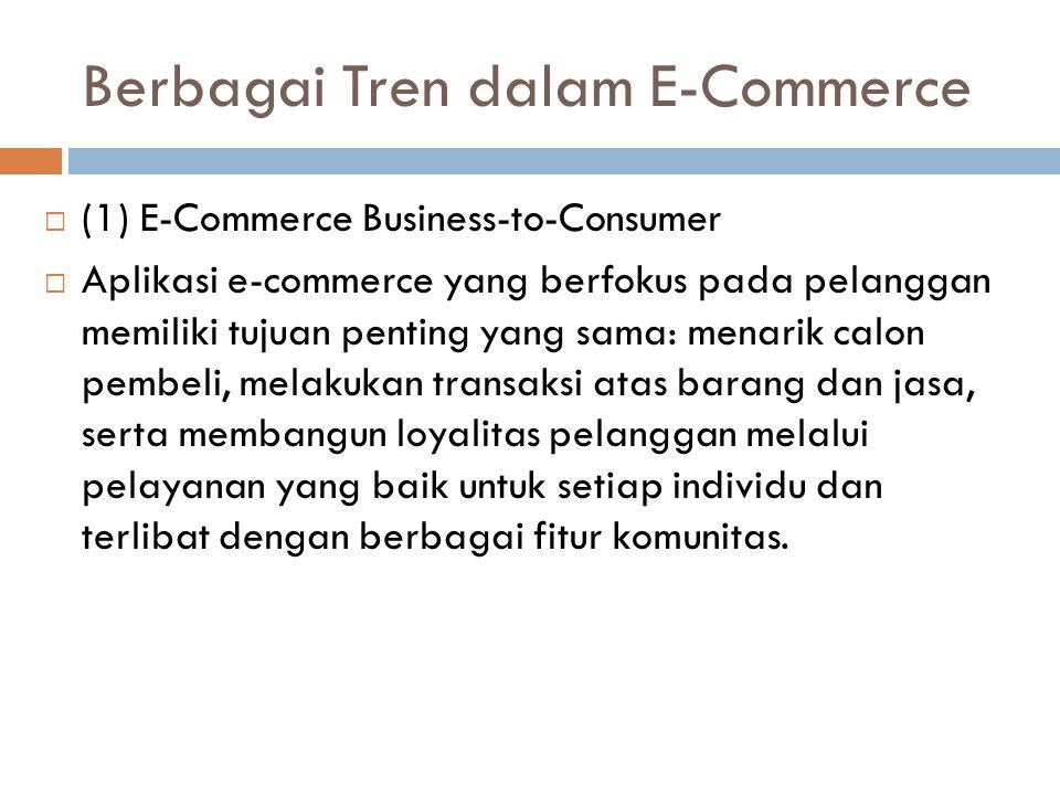 Berbagai Tren dalam E-Commerce