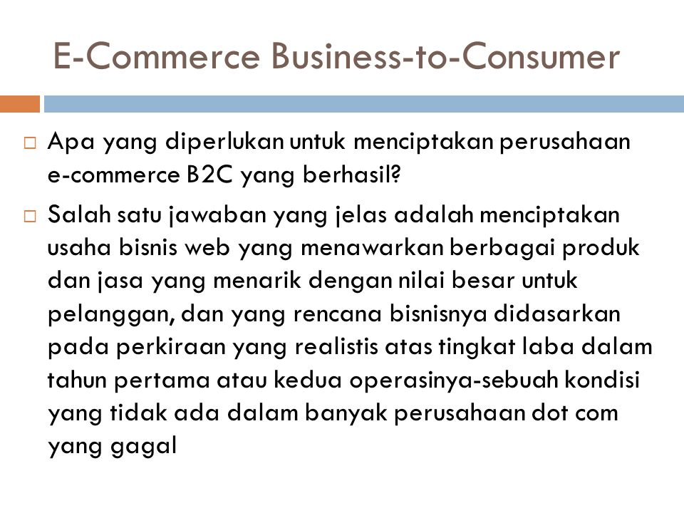 E-Commerce Business-to-Consumer