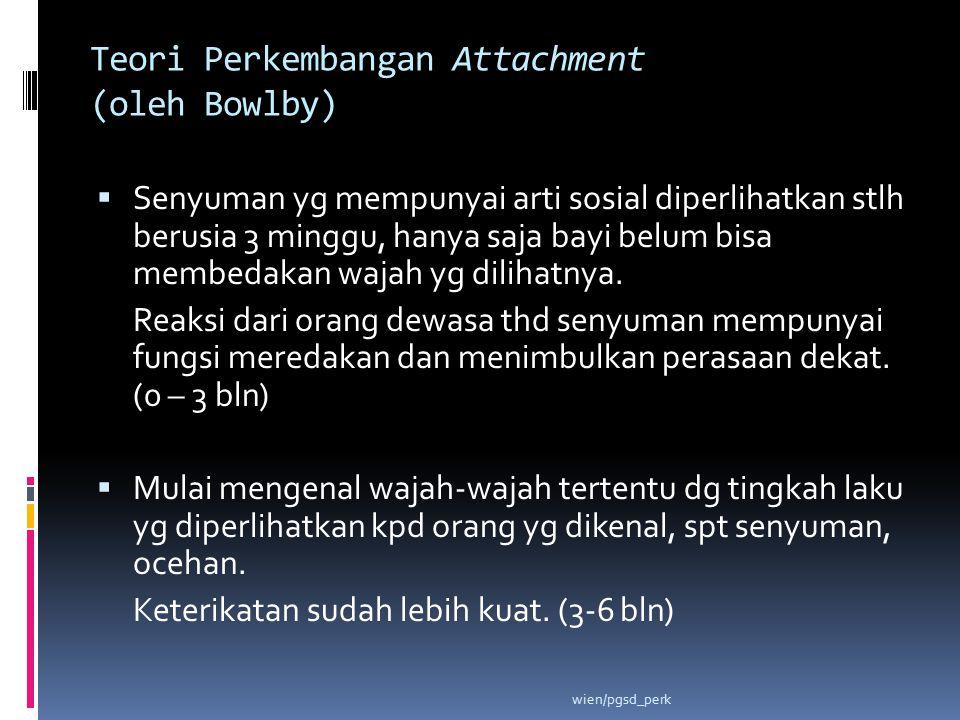 Teori Perkembangan Attachment (oleh Bowlby)