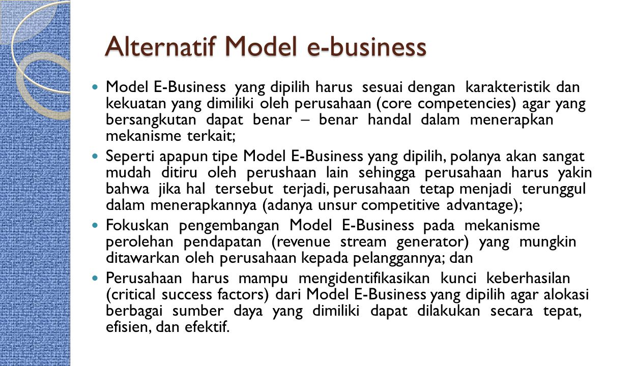 Alternatif Model e-business