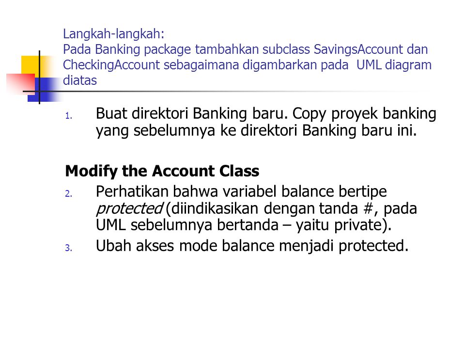 Modify the Account Class