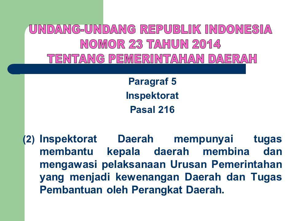 UNDANG-UNDANG REPUBLIK INDONESIA NOMOR 23 TAHUN 2014