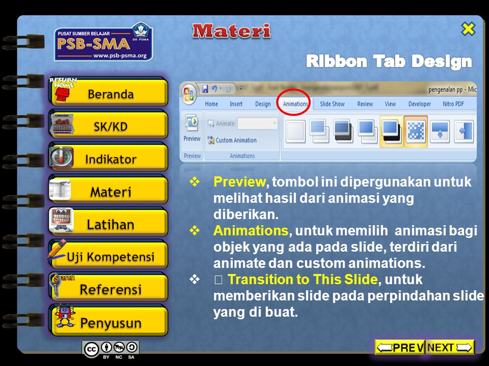 Materi Ribbon Tab Design