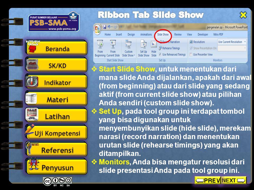 Ribbon Tab Slide Show