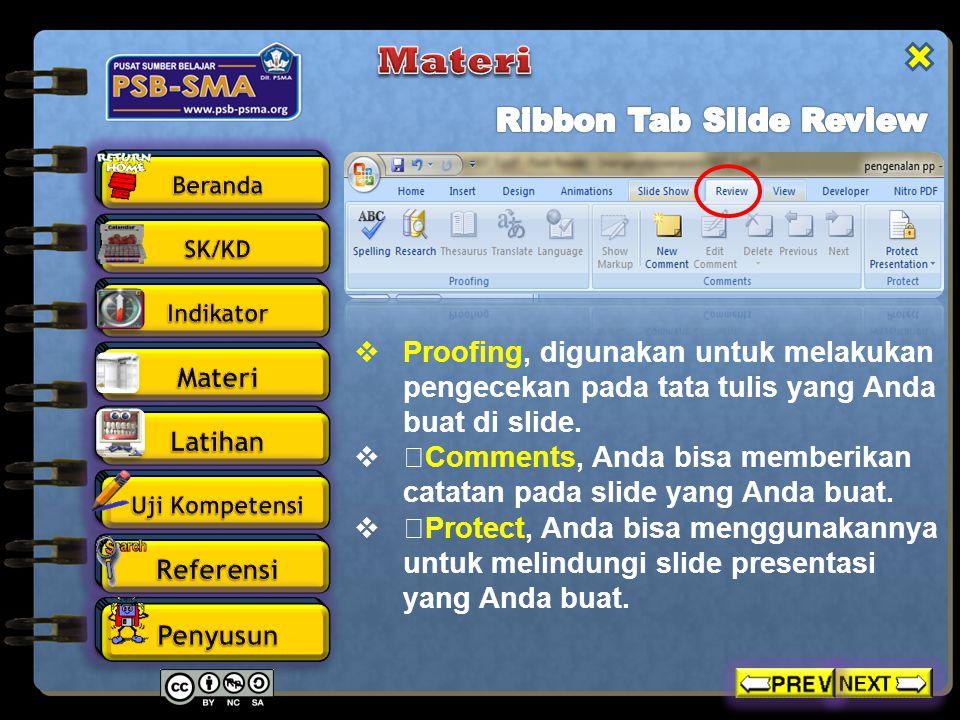 Materi Ribbon Tab Slide Review