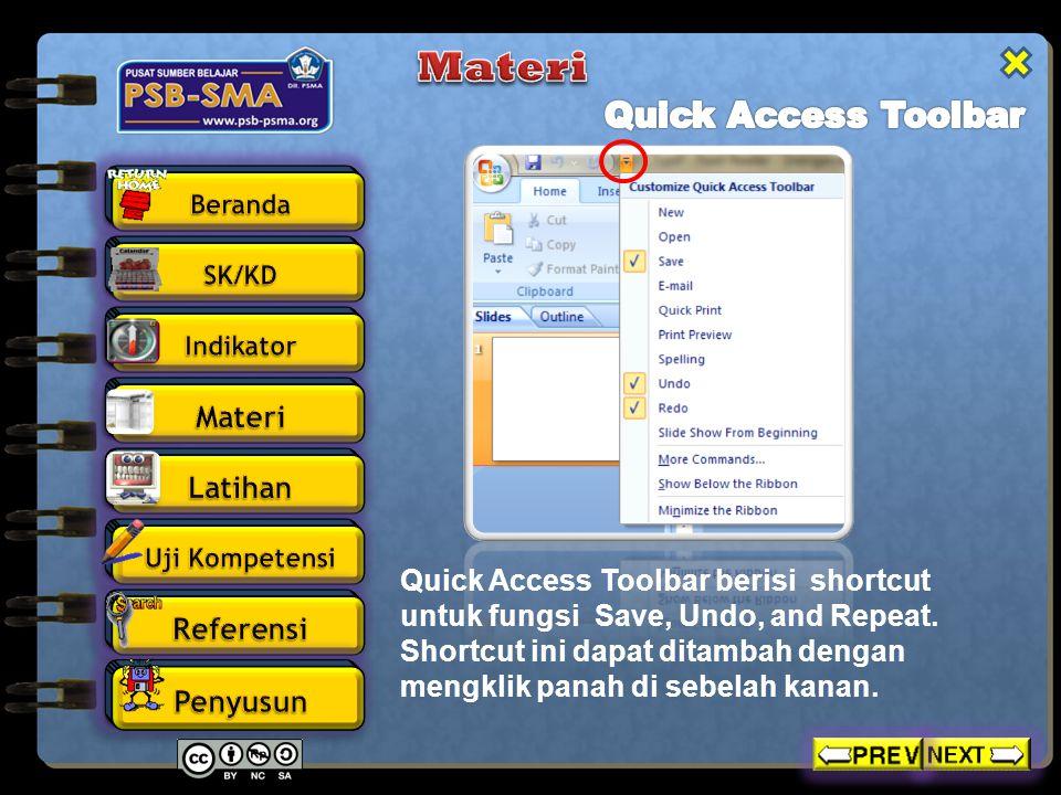 Materi Quick Access Toolbar