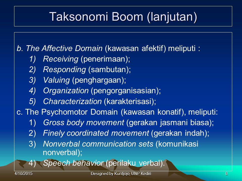 Taksonomi Boom (lanjutan)