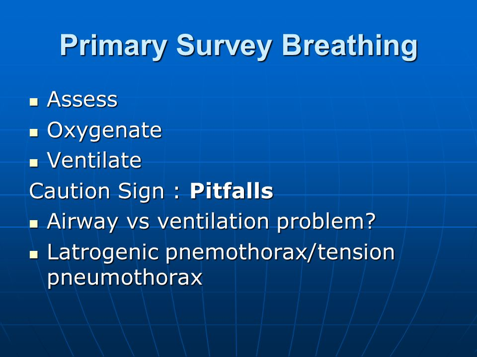 Primary Survey Breathing