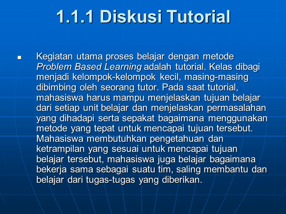 1.1.1 Diskusi Tutorial