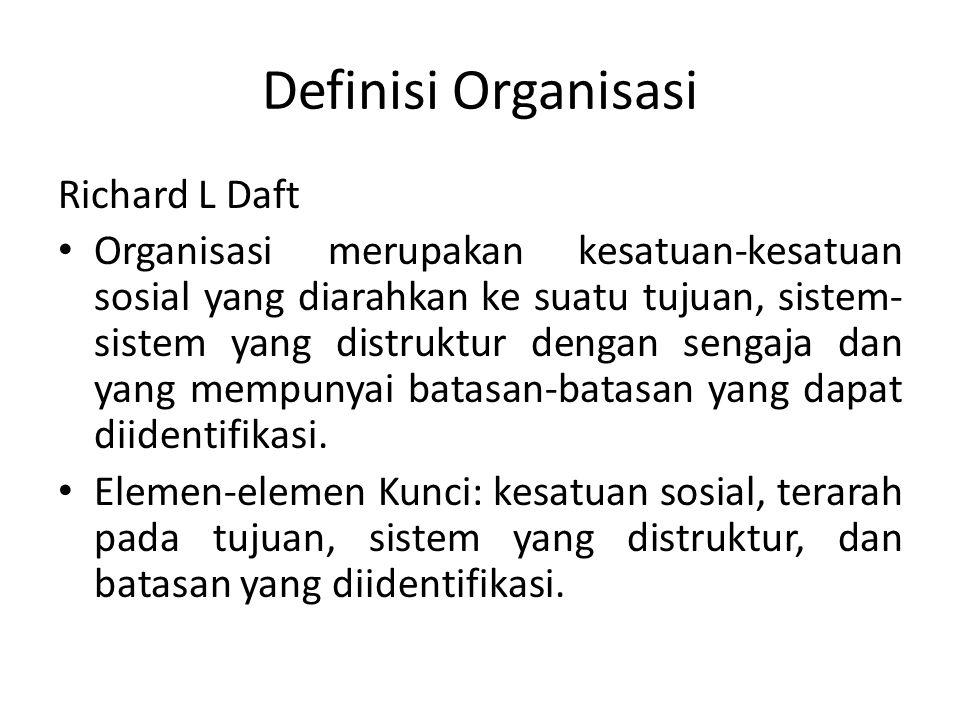 Definisi Organisasi Richard L Daft