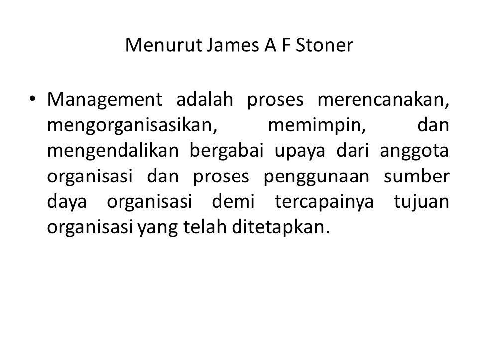 Menurut James A F Stoner