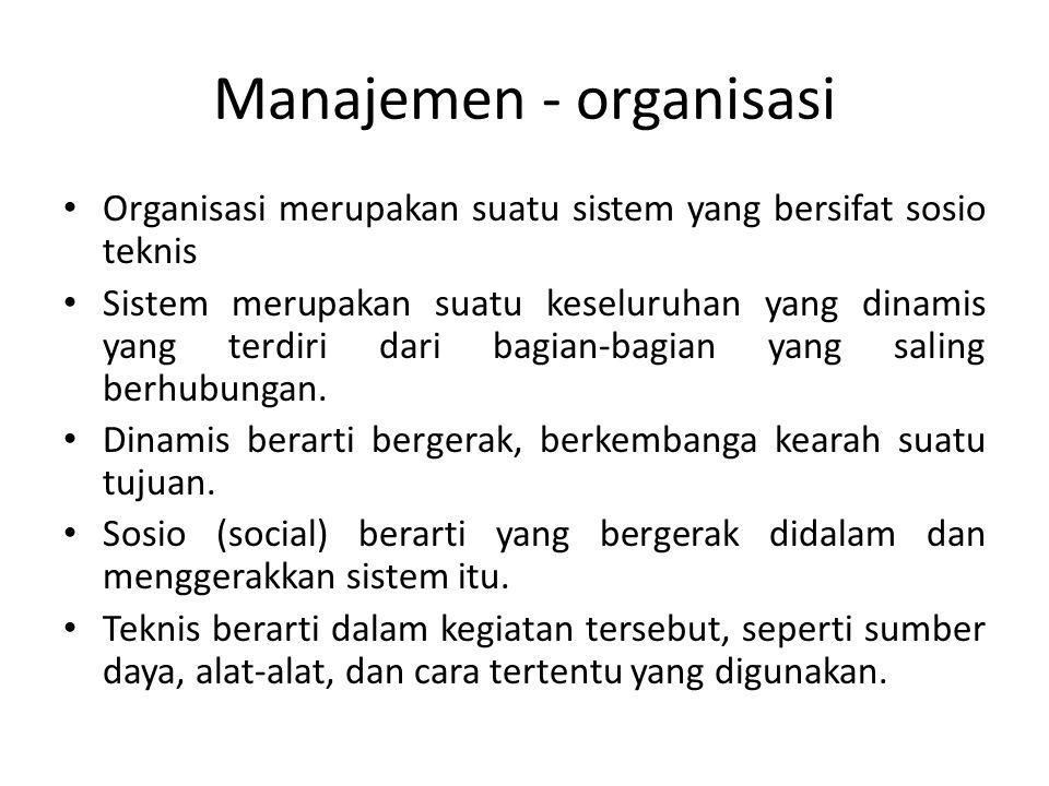 Manajemen - organisasi