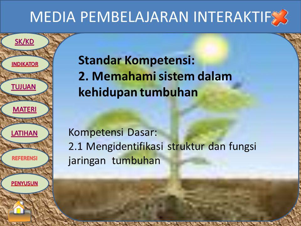 Standar Kompetensi: 2. Memahami sistem dalam kehidupan tumbuhan