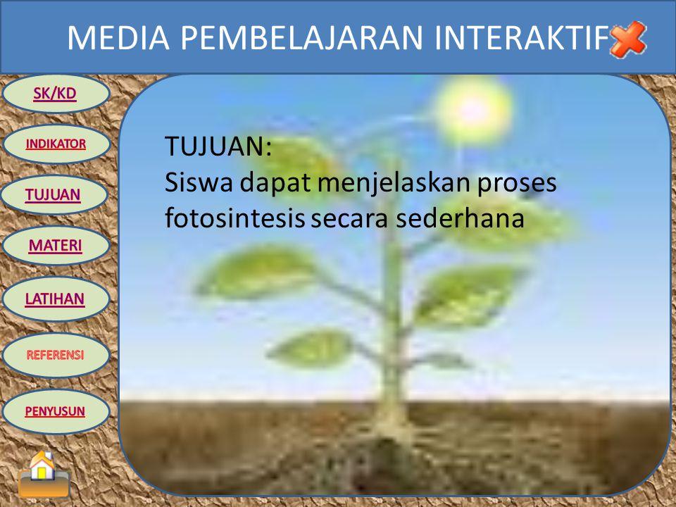 TUJUAN: Siswa dapat menjelaskan proses fotosintesis secara sederhana