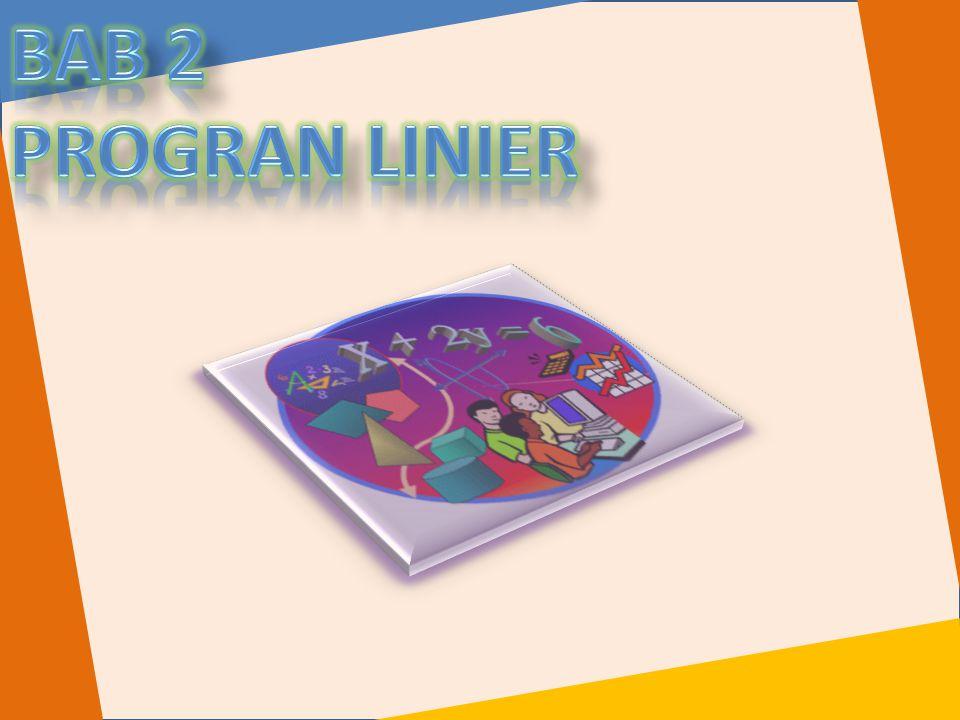 Bab 2 PROGRAN LINIER