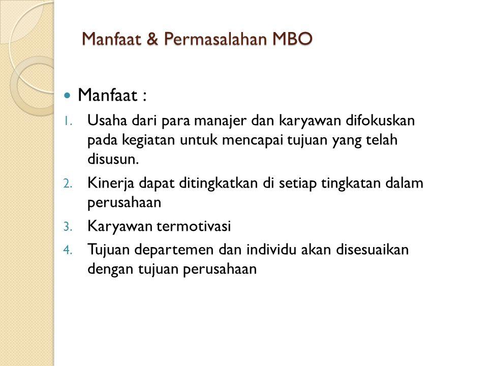 Manfaat & Permasalahan MBO