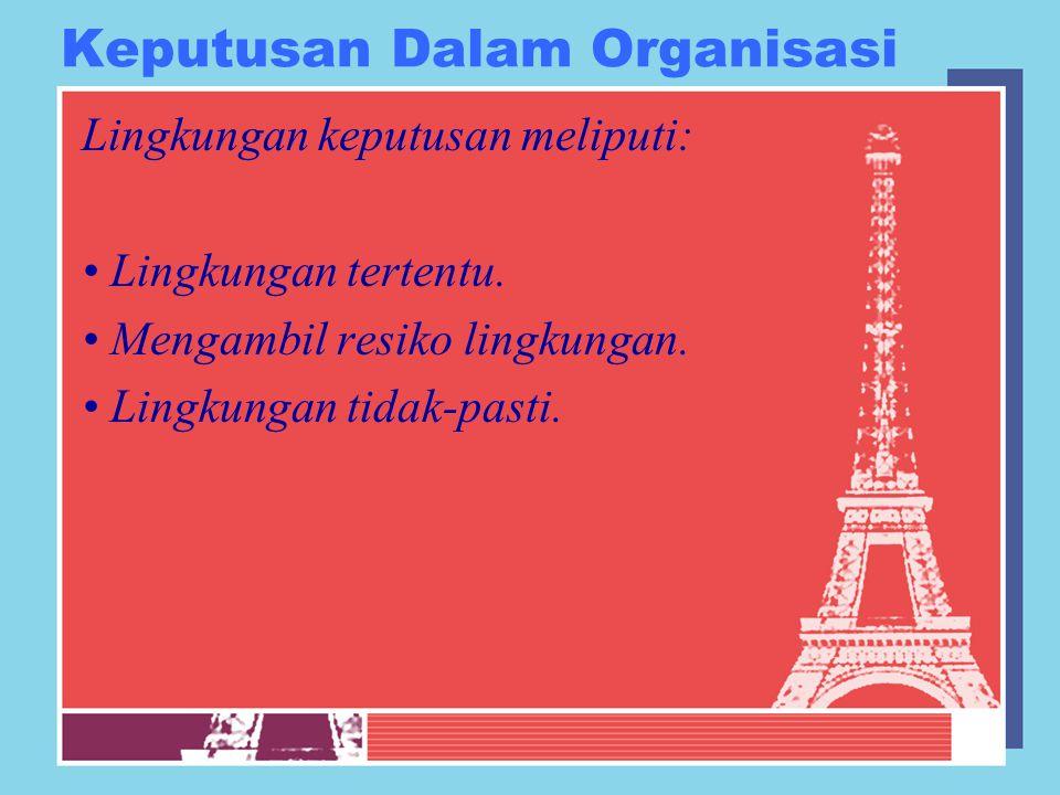 Keputusan Dalam Organisasi