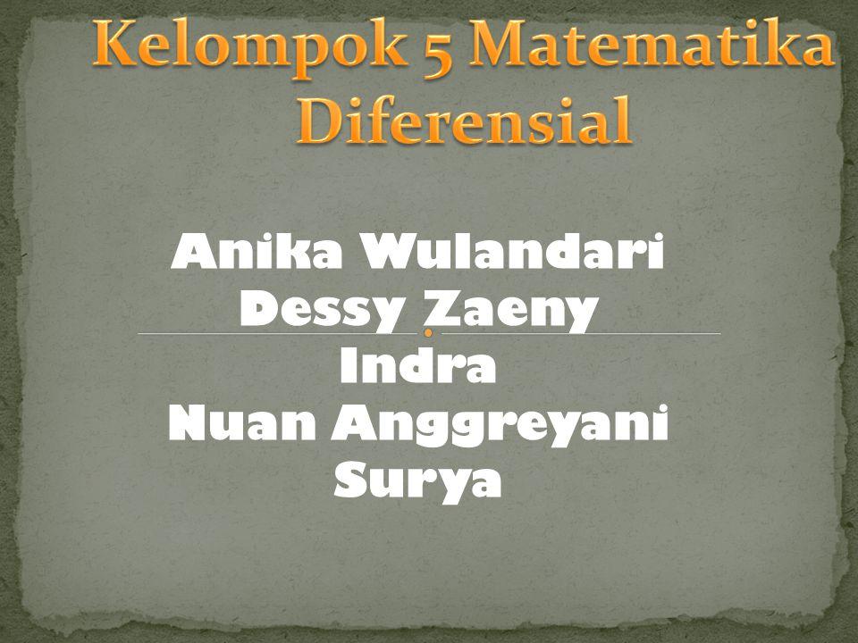 Kelompok 5 Matematika Diferensial