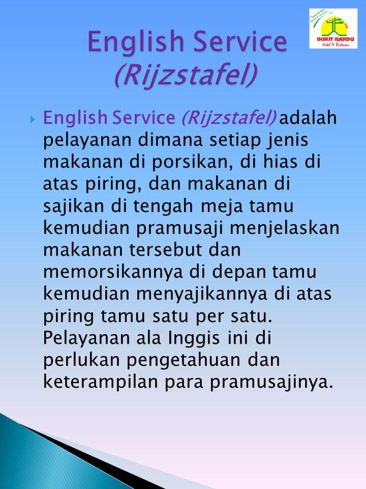English Service (Rijzstafel)