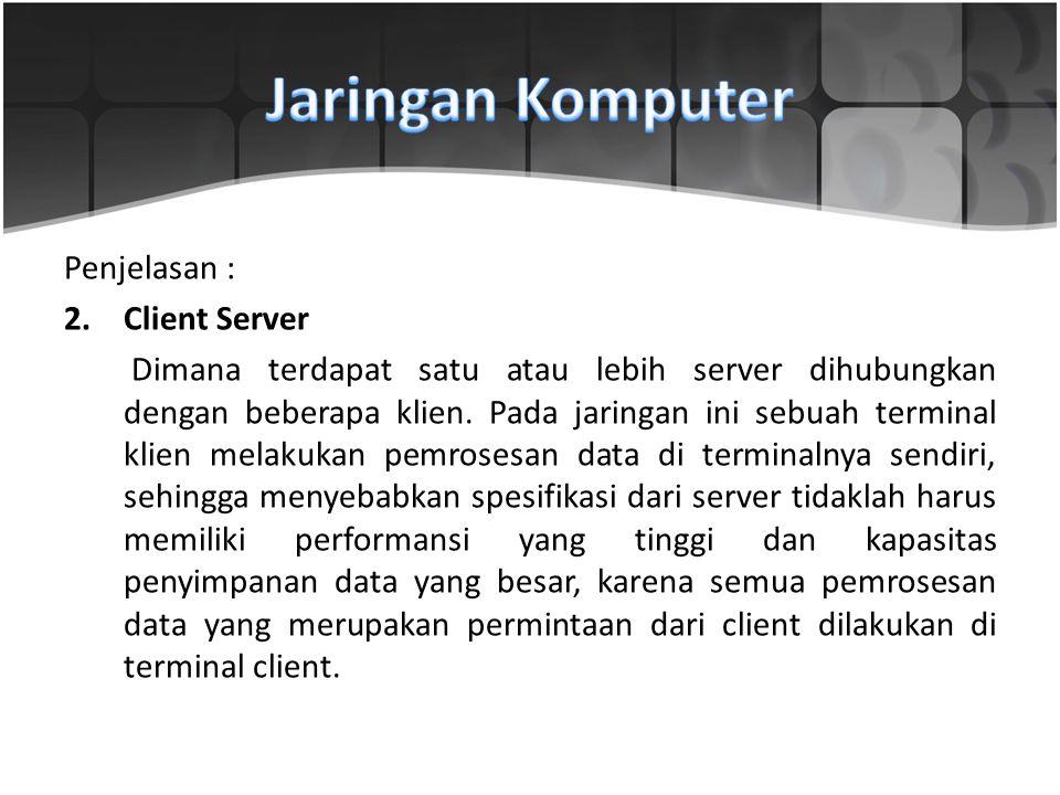 Jaringan Komputer Penjelasan : Client Server