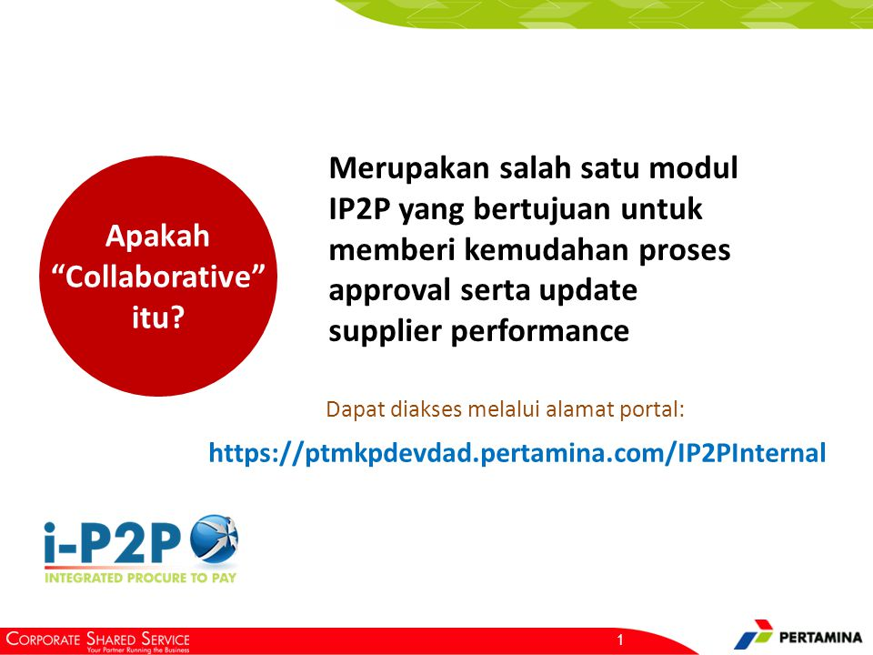 Login ke Aplikasi i-P2P Username : pips.user. Password : ptm.3010.
