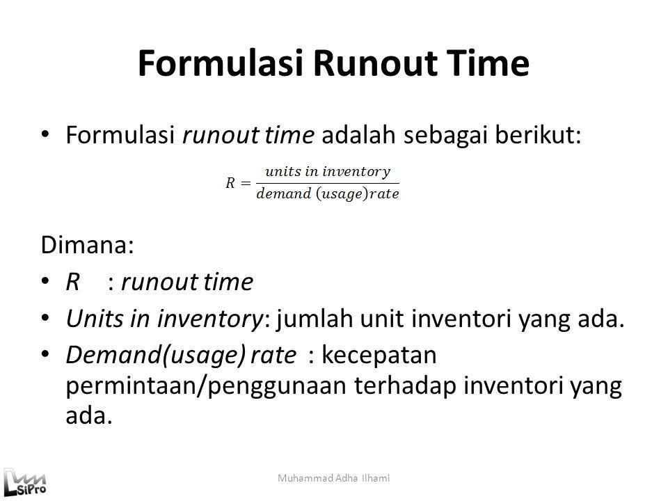 Formulasi Runout Time Formulasi runout time adalah sebagai berikut: