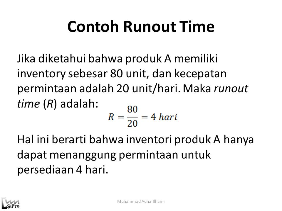 Contoh Runout Time