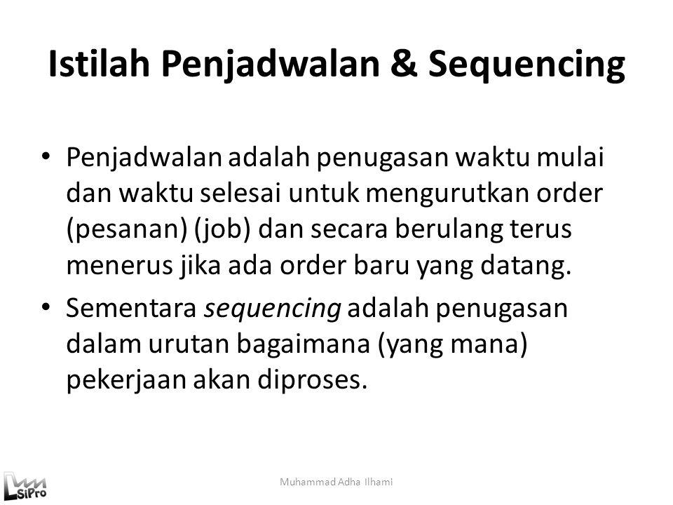 Istilah Penjadwalan & Sequencing