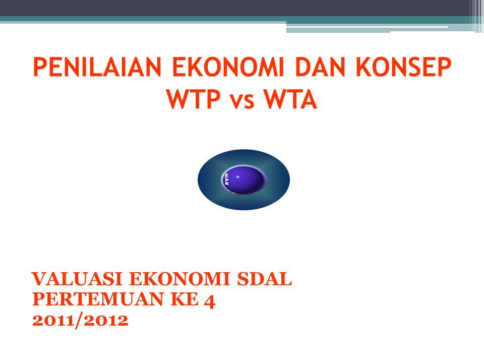 PENILAIAN EKONOMI DAN KONSEP WTP vs WTA