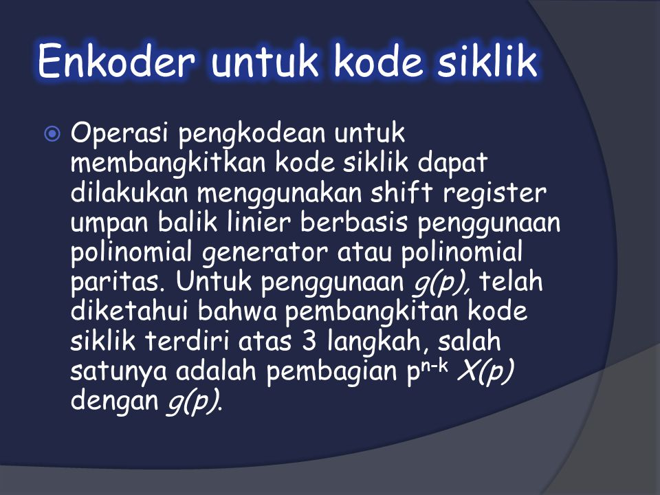 Enkoder untuk kode siklik