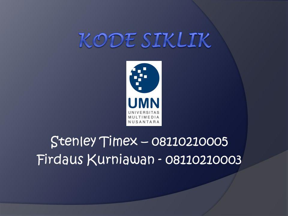 Kode Siklik Stenley Timex – 08110210005