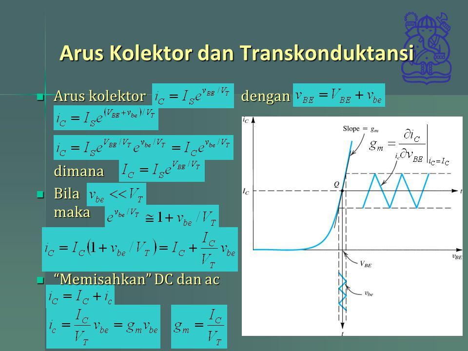 Arus Kolektor dan Transkonduktansi