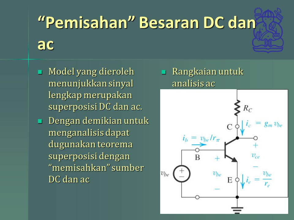 Pemisahan Besaran DC dan ac