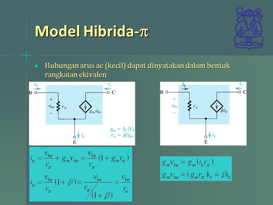 Model Hibrida-p Hubungan arus ac (kecil) dapat dinyatakan dalam bentuk rangkaian ekivalen