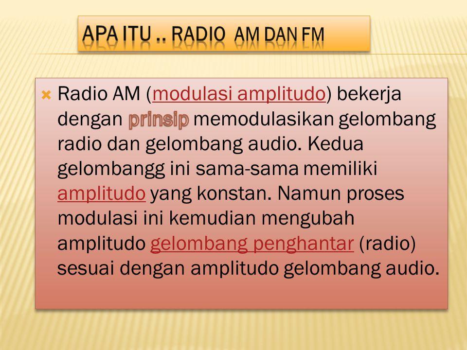 Apa itu .. Radio AM dan FM